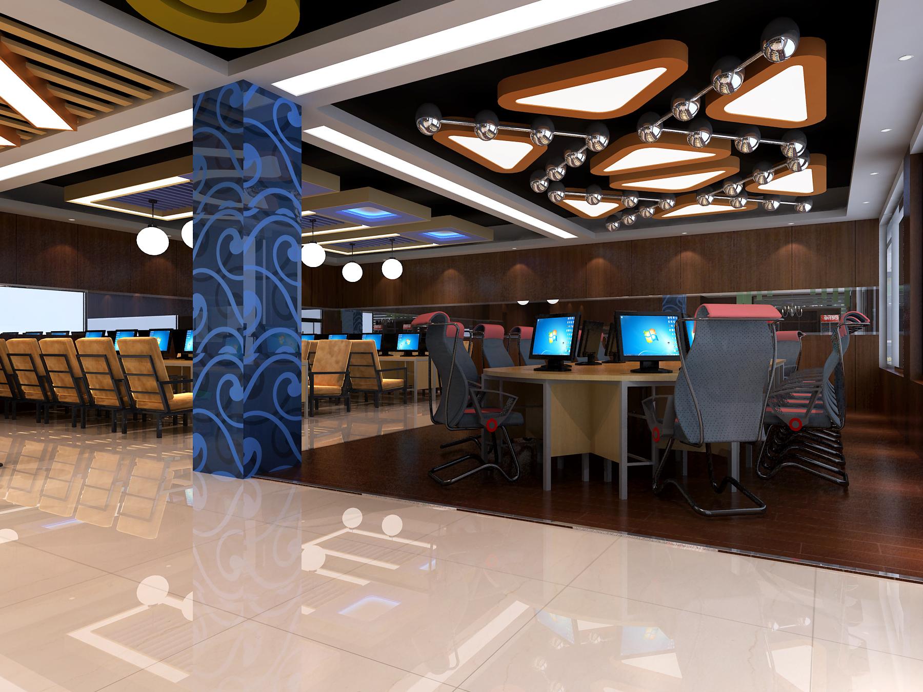 而网咖的装修设计又分为室内装修设计和室外装修设计.