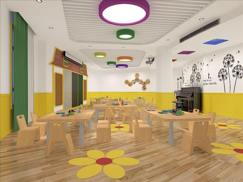 幼儿园大厅设计规划的作用成都公装公司-四川海云装饰